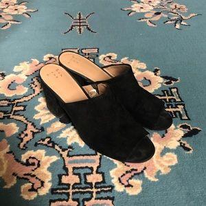 a new day Black Slip On Chunky Heels